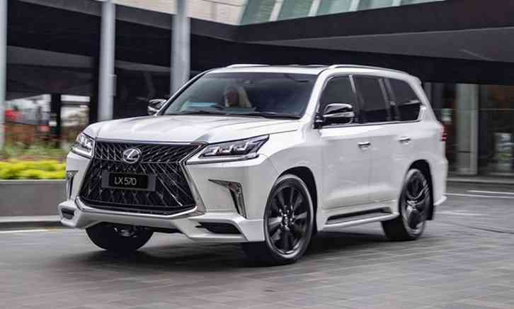 lexus lx 2022 at low rpm with an advanced eight-speed paddle-shift transmission